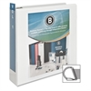 "Business Source Slanted Ring Presentation Binder - 2"" Binder Capacity - D-Ring Fastener - Polypropylene - White - 1 Each"