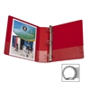 "Business Source Round Ring Binder - 2"" Binder Capacity - Round Ring Fastener - Vinyl - Red - Recycled - 1 Each"