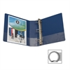"Business Source Round Ring Binder - 3"" Binder Capacity - Round Ring Fastener - Vinyl - Dark Blue - Recycled - 1 Each"
