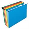 "Reinforced Hanging Folder - Legal - 8 1/2"" x 14"" Sheet Size - 1/5 Tab Cut - 11 pt. Folder Thickness - Blue, Red, Orange, Yellow, Bright Green - 20 / Box"