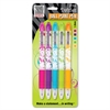 Zebra Pen Z-Grip Daisies Ballpoint Pen - Medium Point Type - 1 mm Point Size - Assorted - 5 / Pack