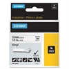 "Dymo Rhino Industrial Vinyl Labels - Permanent Adhesive - 0.47"" Width x 18.04 ft Length - Rectangle - Thermal Transfer - White, Black - Vinyl - 1 Each"