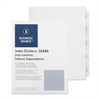 Business Source Punched Laser Index Divider - 5 Blank Tab(s) - 3 Hole Punched - White Paper Divider - White Tab(s) - 5 / Pack