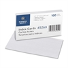 "Business Source Ruled White Index Cards - 8"" Width x 5"" Length - 100 / Pack"