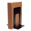 "Book Supports with Poly Base - 8.5"" Height x 9"" Width x 6"" Depth - Desktop - Black - Steel - 2 / Pair"