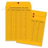 "Interdepartmental Envelope - Interoffice - 10"" Width x 13"" Length - 28 lb - String/Button - Kraft - 100 / Box - Kraft"