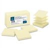 "Business Source Pop-up Adhesive Note - 3"" x 3"" - Square - Yellow - Removable, Repositionable, Solvent-free Adhesive - 12 / Pack"