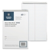 "Business Source Wirebound Steno Notebook - 60 Sheets - Printed - Wire Bound - 15 lb Basis Weight - 6"" x 9"" - White Paper - 1Each"