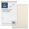 "Business Source Steno Notebook - 70 Sheets - Printed - Wire Bound - 15 lb Basis Weight - 6"" x 9"" - Green Paper - 1Each"