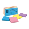 "Business Source 3x3 Extreme Colors Adhesive Notes - 100 - 3"" x 3"" - Square - Assorted - Repositionable, Solvent-free Adhesive - 12 / Pack"
