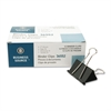 "Business Source Binder Clip - Large - 2"" Width - 1"" Size Capacity - 1 Pack - Black - Steel"