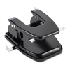 "Heavy-duty Hole Punch - 2 Punch Head(s) - 30 Sheet Capacity - 9/32"" Punch Size - Round Shape - Black"