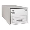 "Business Source Drawer Storage Boxes - External Dimensions: 12.5"" Width x 23.3"" Depth x 10.3""Height - Media Size Supported: Letter - Light Duty - Stackable - White - For File - Recycled - 6 / Carton"