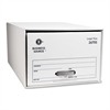 "Business Source Drawer Storage Boxes - External Dimensions: 15.5"" Width x 23.3"" Depth x 10.3""Height - Media Size Supported: Legal - Light Duty - Stackable - White - For File - Recycled - 6 / Carton"