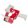 "Business Source Pistol Grip Tape Dispenser - 3"" Core - Adjustable Tension Mechanism - Red"