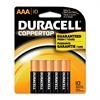 Duracell CopperTop MN1500B10Z Alkaline AAA Battery - AAA - Alkaline - 1.5 V DC - 10 / Pack