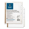 "Business Source Tear-resistant Clr Tab Index Dividers - 5 x Divider(s) - 5 Tab(s)/Set - 8.5"" Divider Width x 11"" Divider Length - Letter - White Divider - Clear Tab(s) - 5 / Set"
