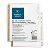 "Business Source Index Divider - 8 Tab(s) - 8.50"" Divider Width x 11"" Divider Length - Letter - White Divider - Clear Tab(s) - 8 / Set"