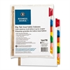 "Business Source Tear-resistant Tab Index Dividers - 8 x Divider(s) - 8 Tab(s)/Set - 8.5"" Divider Width x 11"" Divider Length - Letter - White Divider - Multicolor Tab(s) - 8 / Set"