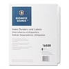 "Business Source Unpunched Index Dividers Set - 8 Blank Tab(s) - 8.5"" Divider Width x 11"" Divider Length - Letter - White Tab(s) - 25 / Box"