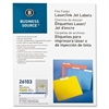 "File Folder Label - Permanent Adhesive - ""0.66"" Width x 3.43"" Length - 30 / Sheet - Rectangle - Laser, Inkjet - Dark Blue - Paper - 1500 / Pack"
