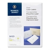 "Business Source Clear Mailing Label - Permanent Adhesive - 1"" Width x 2.75"" Length - 30 / Sheet - Rectangle - Laser - Clear - 1500 / Pack"
