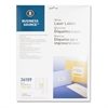 "Business Source Mailing Laser Label - Permanent Adhesive - 1"" Width x 2.63"" Length - Rectangle - Laser - White - 750 / Pack"