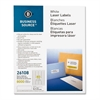 "Return Address Mailing Label - Permanent Adhesive - 0.50"" Width x 1.75"" Length - Rectangle - Laser - White - 8000 / Pack"