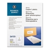 "Business Source 8-1/2""x11"" Copier Labels - 8.50"" Width x 11"" Length - 1 / Sheet - Rectangle - White - 100 Sheet"