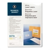 "Business Source Mailing Laser Label - Permanent Adhesive - 2"" Width x 4"" Length - Rectangle - Laser - White - 1000 / Pack"