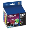 Epson DURABrite 125 Combo Pack Ink Cartridge - Inkjet - 4 / Pack