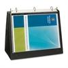 "Business Source Presentation Binder - 1"" Binder Capacity - Letter - 8 1/2"" x 11"" Sheet Size - Ring Fastener - Internal Pocket(s) - Black - Recycled - 1 Each"
