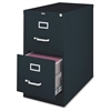 "Lorell Vertical File Cabinet - 18"" x 26.5"" x 28.4"" - 2 x Drawer(s) for File - Legal - Vertical - Lockable, Ball-bearing Suspension, Heavy Duty - Black - Steel - Recycled"