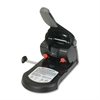 "Effortless Manual Hole Punch - 2 Punch Head(s) - 65 Sheet Capacity - 1/4"" Punch Size - Round Shape - Black"