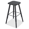"Safco AlphaBetter Stool - Medium Density Fiber (MDF) Black Seat - Steel Black Frame - 13"" Seat Width x 13"" Seat Depth"