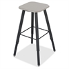 "Alpha Better Adjustable Height Stool - Black - Wood - 15.3"" Width x 19.3"" Depth x 35"" Height"
