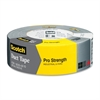 "Scotch Pro Strength Duct Tape - 1.88"" Width x 60 yd Length - 3"" Core - Polyethylene Coated Cloth Backing - Easy Tear - 1 Roll - Silver"