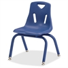 "Jonti-Craft Berries Plastic Chair w/Powder Coated Legs - Steel Frame - Four-legged Base - Blue - Polypropylene - 16.5"" Width x 16.5"" Depth x 23.5"" Height"