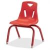 "Jonti-Craft Berries Plastic Chair with Powder Coated Legs - Steel Frame - Four-legged Base - Red - Polypropylene - 16.5"" Width x 14"" Depth x 21.5"" Height"