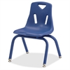 "Jonti-Craft Berries Plastic Chair w/Powder Coated Legs - Steel Frame - Four-legged Base - Blue - Polypropylene - 16.5"" Width x 14"" Depth x 21.5"" Height"