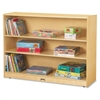 "Jonti-Craft 3-Shelf Light-duty Storage Bookcase - 3 Compartment(s) - 35.5"" Height x 48"" Width x 15"" Depth - Floor - Wood Grain - Baltic Birch Plywood - 1Each"