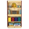 "Jonti-Craft Deluxe Classroom Closet - 36"" x 24"" x 72"" - Lockable, Adjustable Shelf, Kick Plate, Non-yellowing, Stain Resistant, Sturdy, Key Lock - Wood Grain - Baltic Birch Plywood"