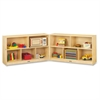 "Mobile Fold-n-Lock Open Shelf Unit - 29.5"" Height x 96"" Width x 15"" Depth - Floor - White, Wood Grain - Baltic Birch Plywood - 2 / Each"