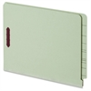 "Pendaflex End Tab Pressboard Fastener Folders - Letter - 8 1/2"" x 11"" Sheet Size - 2 Fastener(s) - 2"" Fastener Capacity for Folder - 25 pt. Folder Thickness - Pressboard - Light Green - Recycled - 25"
