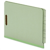"Pendaflex End Tab Pressboard Fastener Folders - Letter - 8 1/2"" x 11"" Sheet Size - 2 Fastener(s) - 2"" Fastener Capacity for Folder - 25 pt. Folder Thickness - Pressboard - Light Green - 25 / Box"