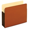 "Pendaflex Tyvek File Pockets - Letter - 8 1/2"" x 11"" Sheet Size - 800 Sheet Capacity - 3 1/2"" Expansion - Top Tab Location - 12.5 pt. Folder Thickness - Redrope - Brown - 4 oz - 10 / Box"