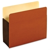 "Pendaflex Tyvek File Pockets - Letter - 8 1/2"" x 11 1/2"" Sheet Size - 1200 Sheet Capacity - 5 1/4"" Expansion - Top Tab Location - 12.5 pt. Folder Thickness - Redrope - Brown - 4.32 oz - 10 / Box"