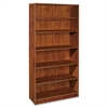 "Lorell Essentials Bookcase - 36"" x 12.5"" x 72"" - 6 Shelve(s) - Square Edge - Finish: Cherry, Laminate"