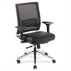 "Lorell Lower Back Swivel Executive Chair - Leather Black Seat - 5-star Base - Black - 28.5"" Width x 28.3"" Depth x 43.5"" Height"