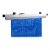 "Hanging Clamp - 18"" Length - 1"" Size Capacity - 100 Sheet Capacity - 6 / Box - Satin - Aluminum"